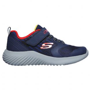 Kids Skechers 403732L NVRD Navy Red Bounder Gorven Trainers